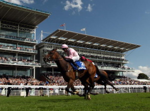 YORK, ENGLAND - AUGUST 20:  Dar Re Mi ridden by Jimmy Fortune wins The Darley Yorkshire Oaks during the Ebor Festival at York Race Course on August 20, 2009 in York, England.  (Photo by Ross Kinnaird/Getty Images)