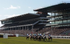 Runners past the grandstands in the Sky Bet Supreme Novices Hurdle on Champion Day, during the Cheltenham Festival at Cheltenham Racecourse. PRESS ASSOCIATION Photo. Picture date: Tuesday March 10, 2015. See PA story RACING Cheltenham. Picture credit should read: David Davies/PA Wire. RESTRICTIONS: Editorial Use only, commercial use is subject to prior permission from The Jockey Club/Cheltenham Racecourse. Call +44 (0)1158 447447 for further information.