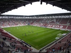 This match will be played at the SLG arena in Augsburg