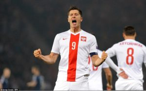 Main man Robert Lewandowski will be looking to power his side into the quarter finals.