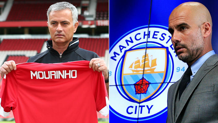 It's Mourinho vs Guardiola in this weekends Manchester derby